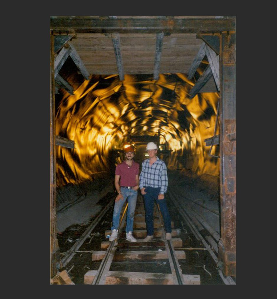 Me (Right) 200 Feet Under The City Of Los Angeles
