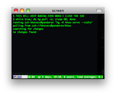 gnu screen screenshot